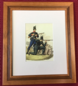 10x12 Framed British Riflemen Print